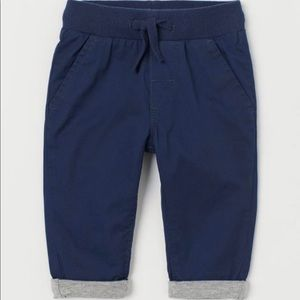 H&M Lined Pull-on Pants size 9-12 months